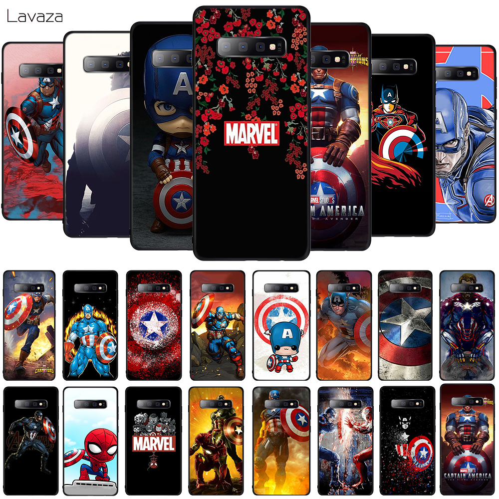 Lavaza Captain America Soft Phone Cover for Samsung Galaxy S8 S9 S10 Plus A6 A8 A9 2018 A30 A50 TPU Case