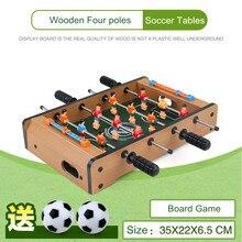 35 * 22 * 6,5 CM Indoor Mini Fußball Tische Fußball Brettspiel Eltern-kind-interaktion Spielzeug Holz Vier Pole Mini Tischfußball
