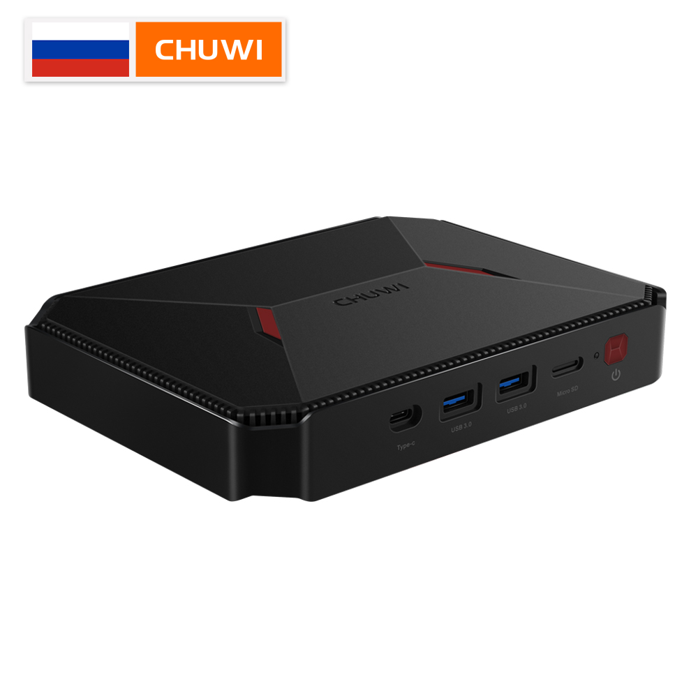 GBOX CHUWI Originais Pro Intel Atom X7-E3950 Window10 64 4GB de RAM GB ROM Quad Core Mini PC Bluetooth 4.0 wifi 2.4G/5G