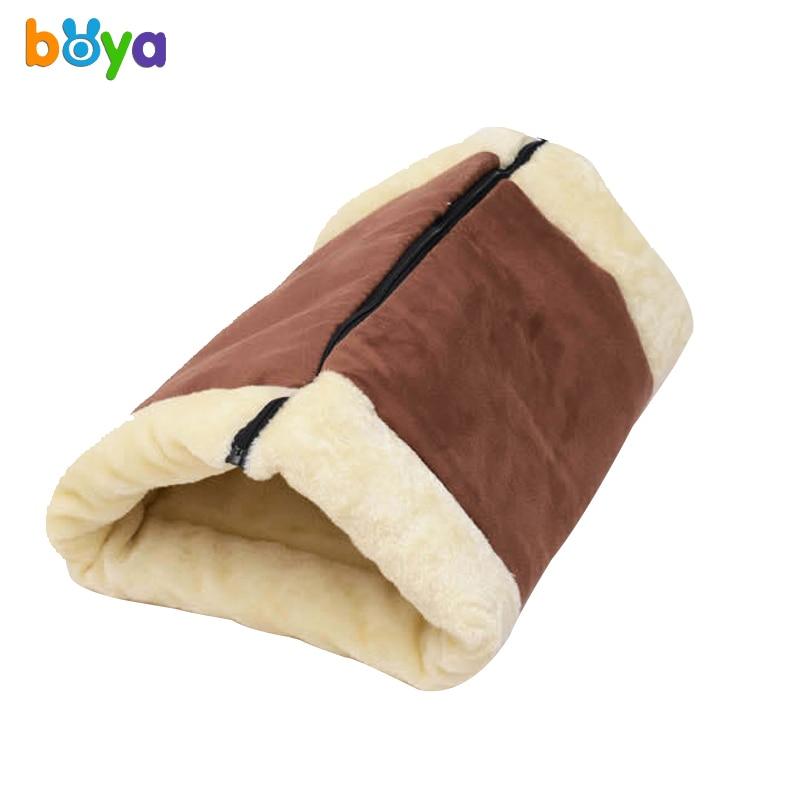 Boya Cats Pet Bed Sleeping Bag Warm Home Houses Cats Litter Soft Small Dog Kennel Cat Tunnel Mat Cushion Pet Supplies