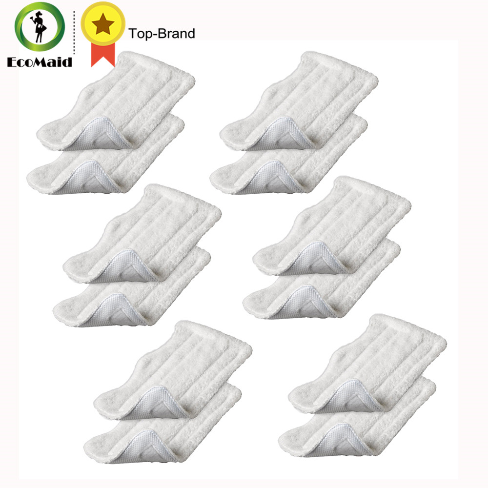 12 pcs Deluxe  Washable Mop Microfiber Cleaning Pads For Shark Series S3101 S3251 S3250 SE200 S3251WC FS3101 S3251_N2A S3101CO 5 replacement microfiber pads cleaning pads for h2o x5 steam mop