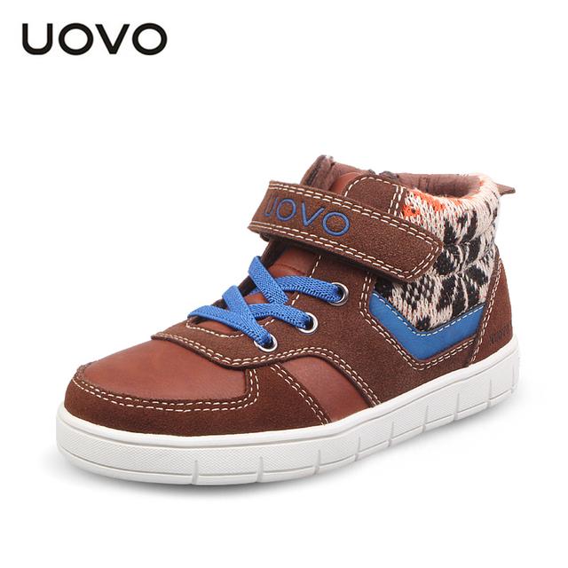 UOVO Moda tricô de lã crianças sapatos crianças sneakers para meninos das meninas do esporte sapatos outono plana sapatos de marca