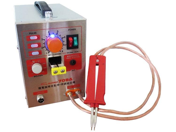 S709A 1.5KW высокое Мощность точечной сварки и паяльная станция с универсальным сварочным ручка для Батарея сварки и Sodering