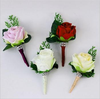 10Pcs  DIY new creative red pink corsage flowers wedding supplies banquet party business meeting celebration corsage flowers