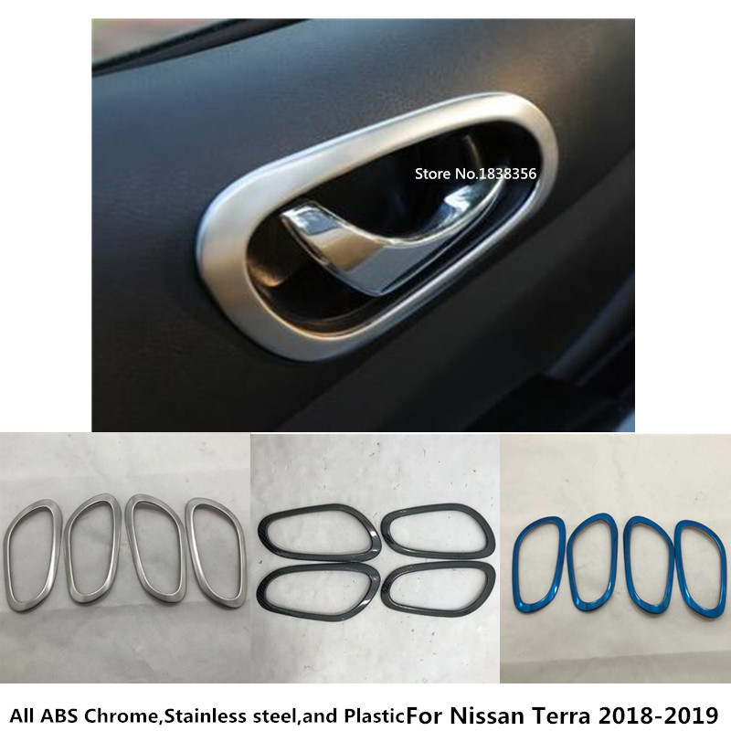 Stainless Interior door bowl Decorative trim For Jeep Grand Cherokee 2014-2017