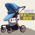 2016 Nova Apressado Carrinho de Bebê Luz Carrinho de Bebê Dobrável Bb Choque 4 No corredor Acessórios De Carrinho de Mão Dupla Carrinhos Europeus