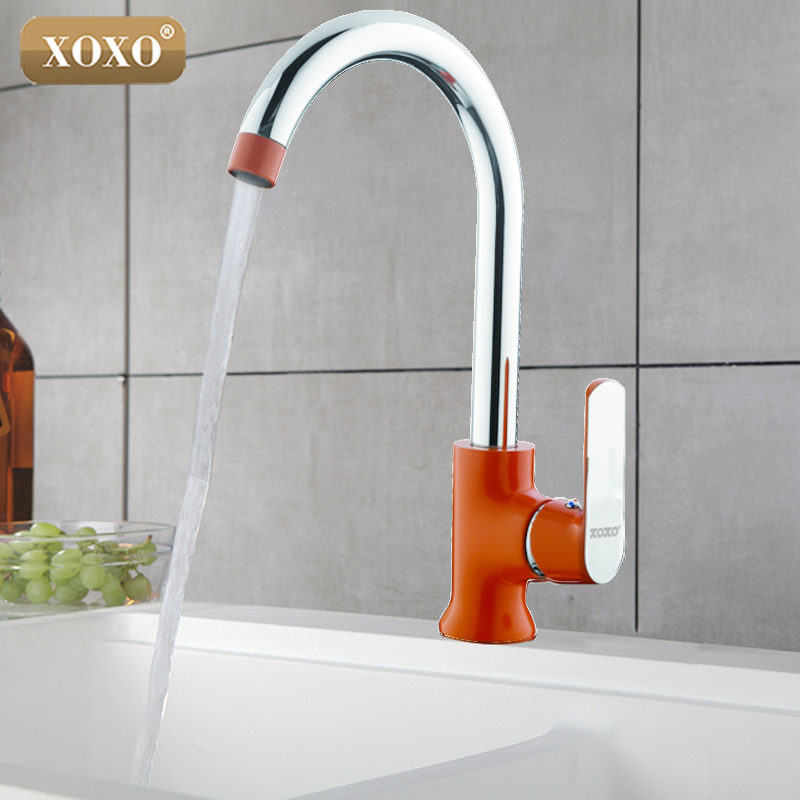 XOXO Modern Fashion Style Xoxo's New Brass Kitchen Faucet Takes An Extra 3 - Torneira Rotating 360 Degree Cozinha Mixer20021-1R