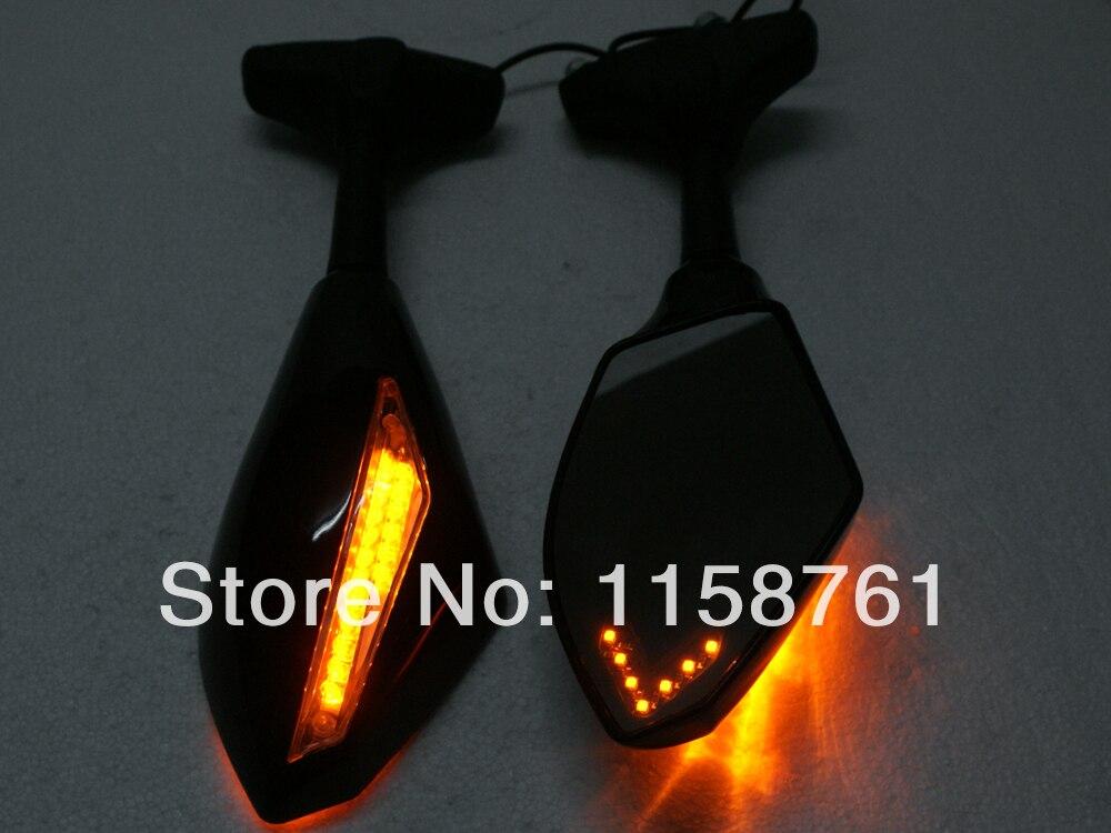 Noir LED Style de course rétroviseurs intégrés rétroviseurs pour Honda CBR 600 F3 F2 F4i 929 954 1000 RR livraison gratuite