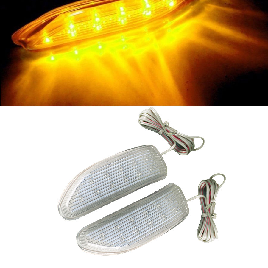 Amber Auto SMD LED Light 12V Blade Shape Auto Rearview Side Mirror Turn Signal Lights HOT Selling Universal Car 2PC New
