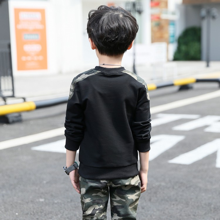 8014ac4a437 Boys Camouflage Tracksuits 2018 Spring Children White Black Long Sleeve  Jacket + Pants Outfit Kids Clothing Sets Age 5 13 T-in Clothing Sets from  Mother ...