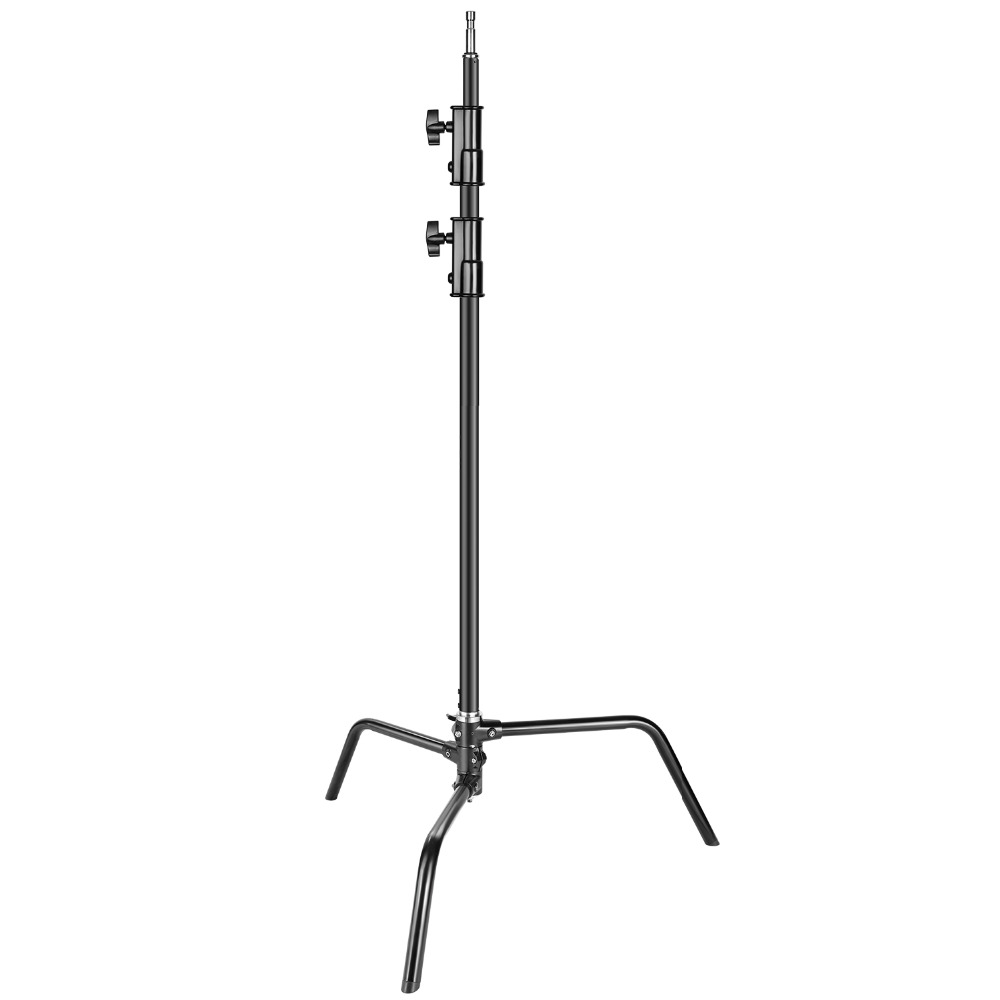 Neewer Heavy Duty Light Stand With Detachable Base 5-10 Feet/1.6-3.2 Meters Adjustable C Stand With 2 Risers For Photography