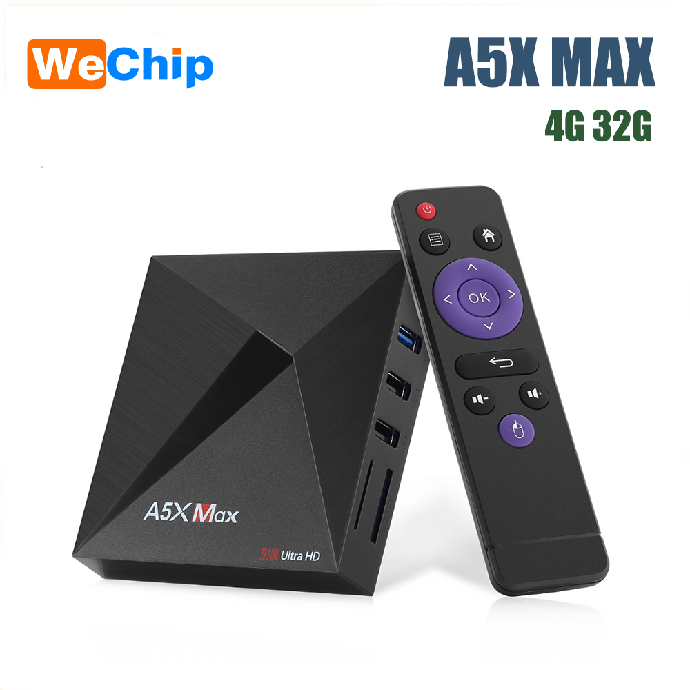A5X MAX Smart Android 9,0 TV Box 4K 1080P HD TV Box RK3318 Quad-Core reproductor de medios apoyo a 2,4G WiFi Wireless100M LAN Set-top Box XGODY P30 3G Smartphone 6