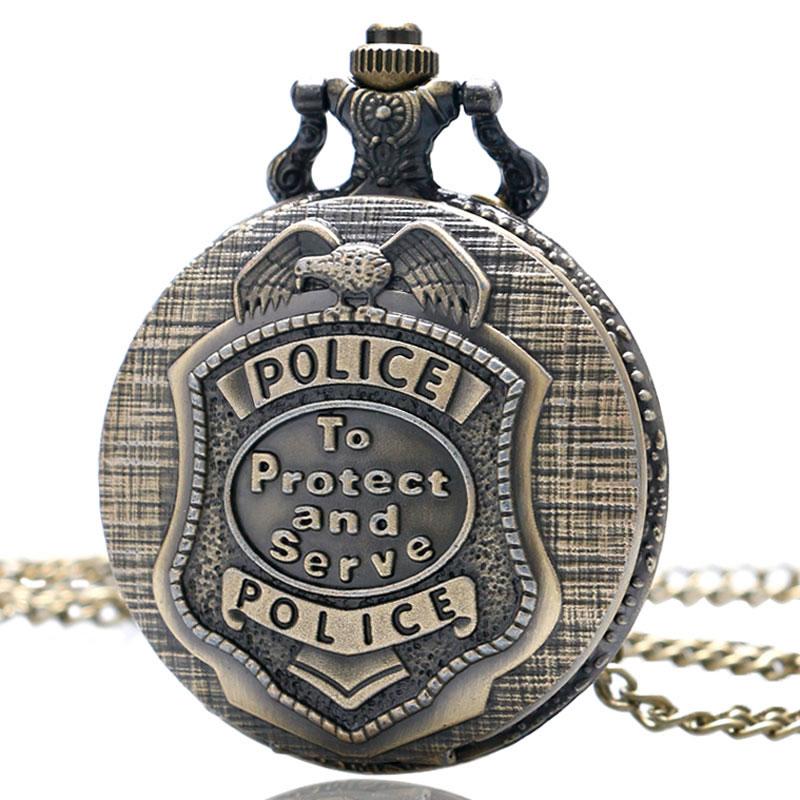 Ρετρό Χάλκινο POLICE χαλαζία ρολόι - Ρολόι τσέπης - Φωτογραφία 6