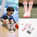 2016 Осень/Зима 1-10y Baby Boy Девушка Колено высокие Носки Новый дизайн Toddle Хлопок Милый Кролик Носки Детей ноги теплее c872