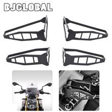 BJGLOBAL Front & Rear Motorcycle Headlight Covers Light Protector Brackets for BMW F800 GS S1000RR 2012-2015 S1000R 2014-2015