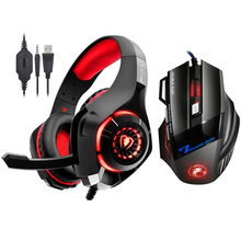 цены на Kotion EACH Stereo Gaming Headset for Xbox One PS4 PC Surround Sound Over-Ear Headphones + 7 Button 3200DPI Pro Gaming Mouse  в интернет-магазинах