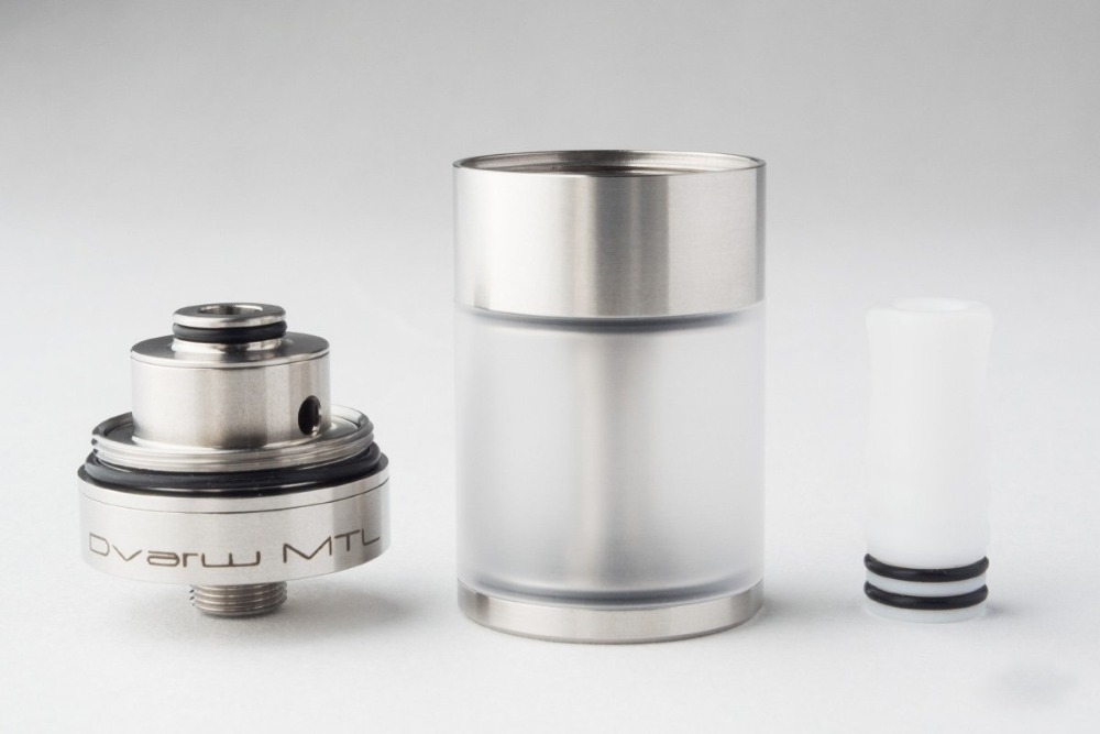 stainless steel DIY RTA Dvarw MTL RTA rebuildable tank atomizer with AFC airflow insert 510 compatible teflon drip tip