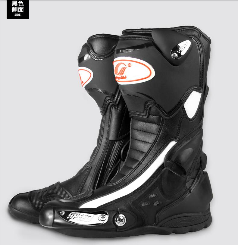 Riding Tribe Motorcycle riding shoes summer cross country road racing boots Knight Rider shoes Wear resistant anti slip motorcycle riding shoes men s waterproof spring anti falling knights boots cross country racing shoes road locomotive boots