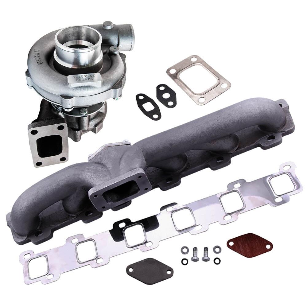 T3T4 Turbo turbocompresseur ligne d'huile pour Nissan patrouille Safari Y60 Y61 TD42 TB42 T3T4 T04E T3 T4 A/R. 63 pour 3.2L-5.0L 1.6L-2.5L