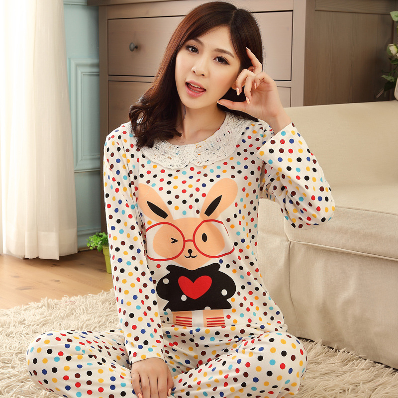2016 Bathrobe Sleeping Beauty Divine Womens Spring And Autumn Wear Long Sleeved S Home Furnishing Two Piece Underwear