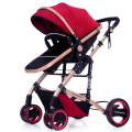 High summer landscape baby stroller can sit lie pram portable folding two-way four-wheel shock baby cart