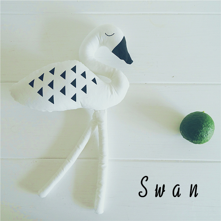 Price For 1pcs Black White Swan Kids Soft Toys Swan Shape Dolls Kids Room Bed Decorative Children's Best Gift