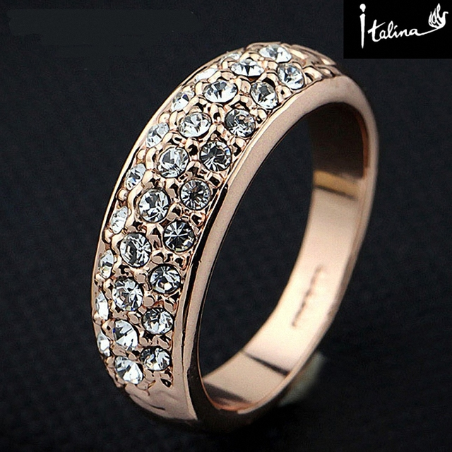 New Sale Brand TracysWing Genuine Austrian Crystal gold Color Rings for Women zi