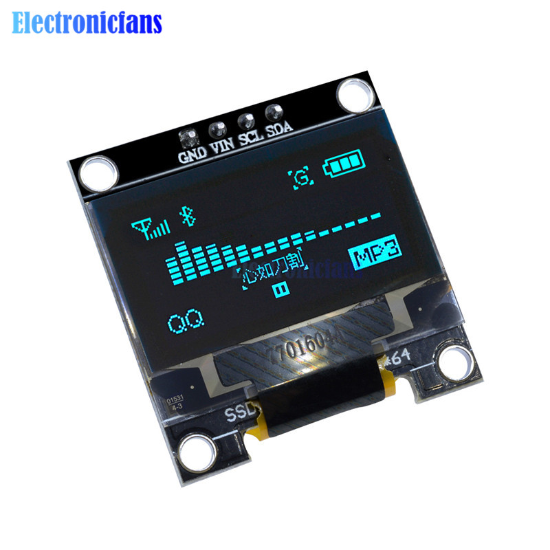 0.96'' 0.96 Inch Blue OLED LED Display Module I2C IIC Serial 128X64 128*64 Controller Driver Board Compatible For Arduino STM32