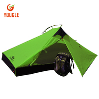 YOUGLE 20D One Layer 2 Person Tent For Camping Hiking Picnic Travelling