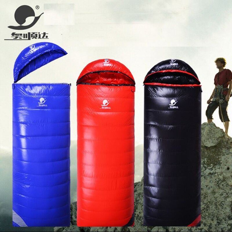 Envelope Type Goose Down 2500G/2800G/3000G Filling Super Warm Camping Adult Winter Sleeping Bag Slaapzak Uyku Tulumu fill 3000g 3500g 4000g goose down sleeping bag winter mummy ultralight hike uyku tulumu outdoor equipment camping sleep bag