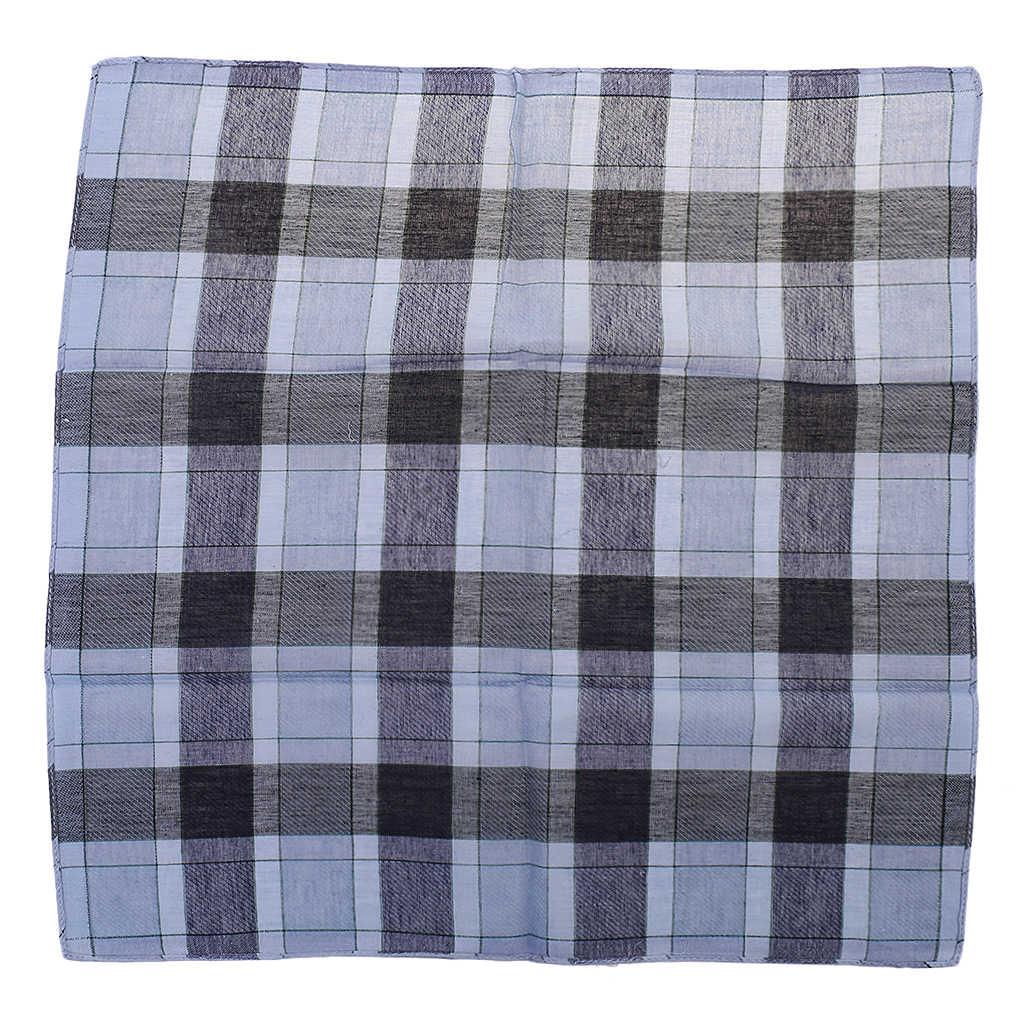 12 Uds. Pañuelo cuadrado clásico de cuadros de algodón para hombres 40*40 cm pañuelos de fiesta de boda patrón Vintage pañuelo de bolsillo a cuadros