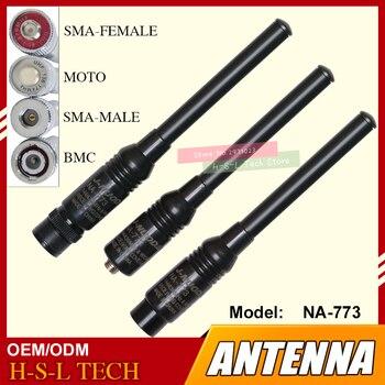 Dual Band 144/430MHz Extendable Antenna SMA/BNC High Gain Mobile Radio Antenna  FM Transmitter Antenna Walkie Talkie Accessory