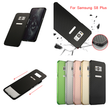 For Samsung Galaxy S8 Plus S 8 Case Aluminum Metal Frame+Carbon Fiber Hard Back Cover for G9550