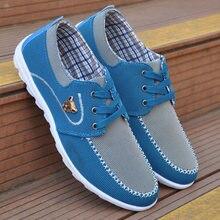 Весенняя мужская повседневная обувь; парусиновая обувь на плоской подошве для мужчин; Лоскутная обувь; мягкая удобная дышащая мужская обувь; большие размеры 39-46