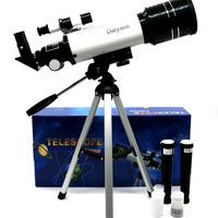 Outdoor HD Monocular 200X Refractive Space Astronomical Telescope Travel Spotting Scope With Portable Tripod Adjustable Lever