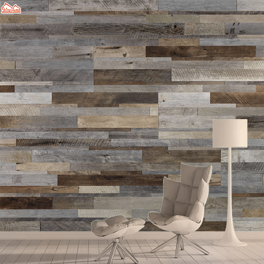 3d Photo Wallpaper Mural Wallpapers For Living Room Wall Paper Papers Home Decor Peel And Stick Wood Pattern Background Murals