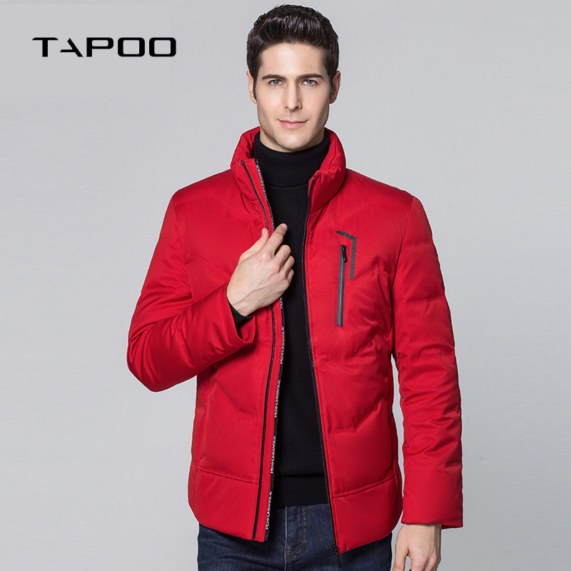 2018 New Brand Men's Winter 90% White Duck   Down   Jackets Thick   Down     Coat   Male Solid Warm Business Casual Parkas Overcoat Men