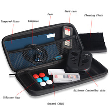13 in 1 Super Kit Carrying Case Bag+Earphone+Skin Protective Filter+Thumb Grip for Nintendo Switch Joy-Con NS Console Controller ivyueen 5 in 1 for nintend switch ns console handle grip protective cover with 4 thumb stick caps case for joy con controller