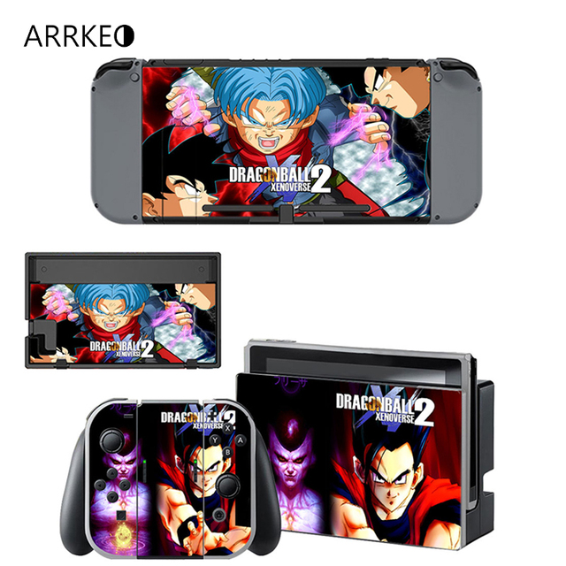 ARRKEO Dragon Ball Xenoverse 2 Protective Cover Vinyl Decal Skin Sticker for Nintend Switch NS Console & Wireless Controller