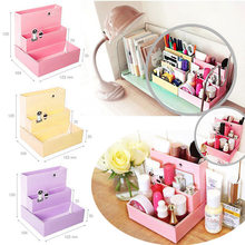 Fashion Practical DIY Paper Board Storage Box Desk Decor Stationery Makeup Cosmetic Organizer(China)