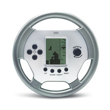 Cool Handheld Kids Tetris Support Game Card Games Players Toys For Children Birthday Gift Classics Steering Wheel Console