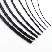 цена на 5 Meters Black Color Polyolefin Heat Shrink Tube Size 1mm 2mm 3mm 5mm 6mm 8mm 10mm Diameter DIY Line Repair Connect Connector