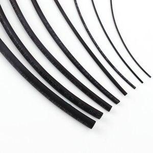 Connecteur de connexion réparation de ligne | Tube thermorétractable en polyoléfine de couleur noire 1mm 2mm 3mm 5mm 6mm 8mm 10mm de diamètre bricolage