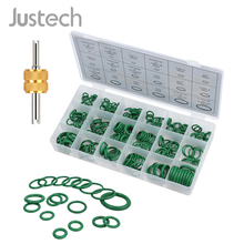 Justech 270 pcs O Rings Kit Valve Core Remover Tool 18 Sizes Air Conditioning O-Ring Assortment Sealing O-rings Set