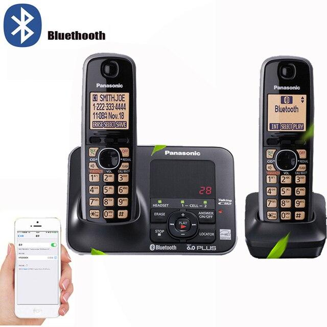 Bluetooth funkcja DECT 6.0 cyfrowe bezprzewodowe telefon stacjonarny z odpowiedzi System połączeń ID zestaw głośnomówiący domu telefony bezprzewodowe czarny