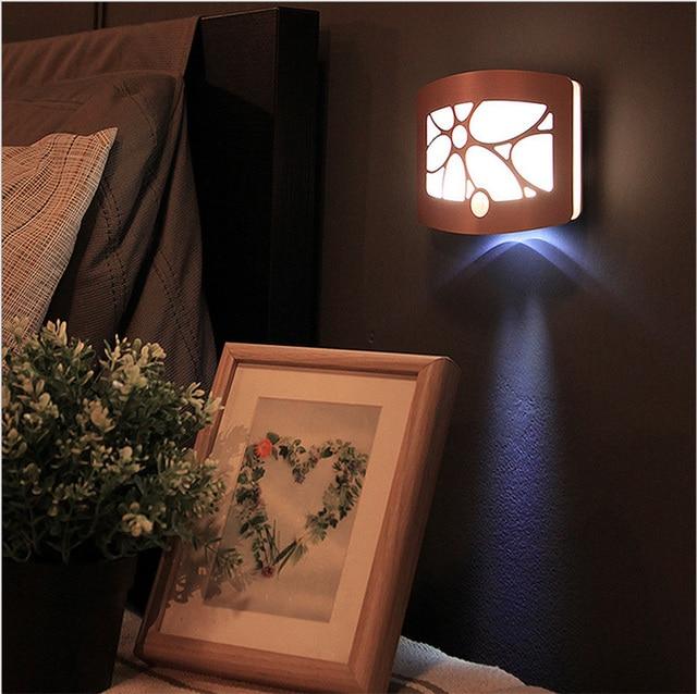 draadloze infrarood motion sensor muur led nachtlampje nieuwigheid aa batterij aangedreven veranda wandlamp bewegingssensor verlichting