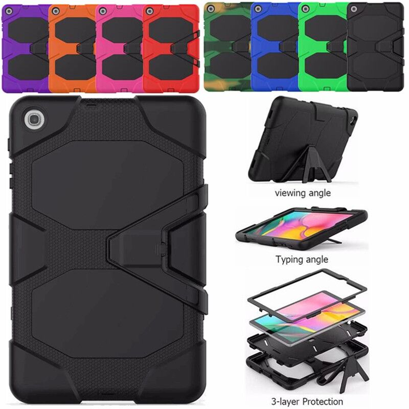 Tablet Shockproof Heavy Duty Armor Case For <font><b>Samsung</b></font> Galaxy <font><b>Tab</b></font> <font><b>A</b></font> <font><b>10.1</b></font> 2019 T510 T515 SM-T515 SM-T510 Soft Silicone <font><b>Cover</b></font> Funda image