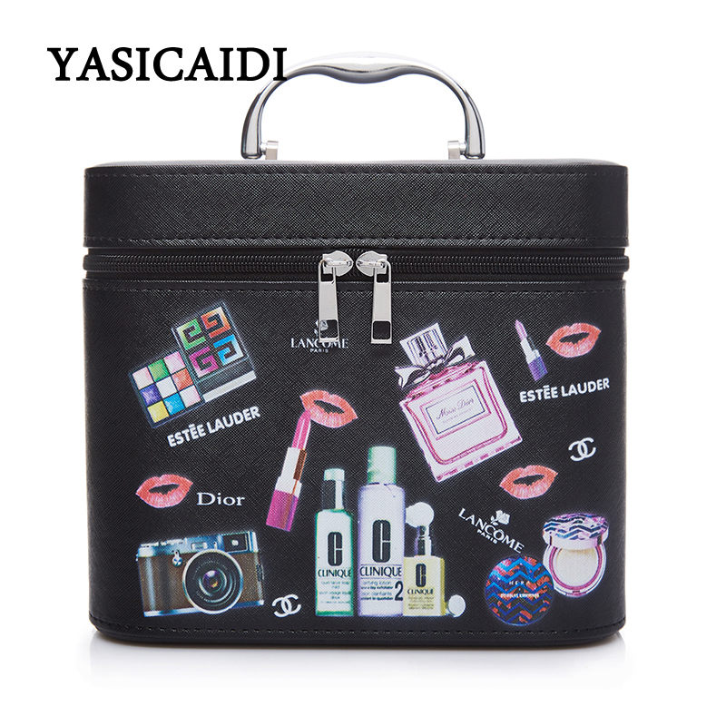 Brand New Women Waterproof Cosmetic Bag Jewelry Storage Box Travel Beauty Kits Organizer Suitcase Portable Makeup Bags neceser brand new women waterproof cosmetic bag jewelry storage box travel beauty kits organizer suitcase portable makeup bags neceser
