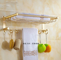 European Gold Towel Rack Bathroom Shelf Storage Rack Wall Mount Bathroom Products