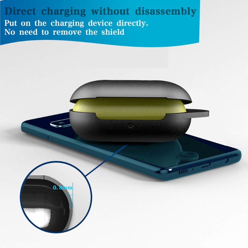 Image 4 - Clamshell Opening Anti shock Flexible Silicone Comprehensive Protective Case Full Cover for Samsung Galaxy Buds Sports Bluetooth-in Earphone Accessories from Consumer Electronics